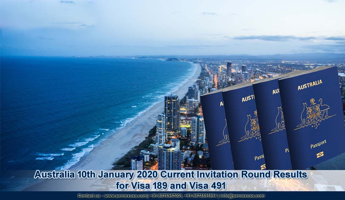 AUSTRALIA 10TH JANUARY 2020 CURRENT INVITATION ROUND RESULTS FOR VISA 189 AND VISA 491