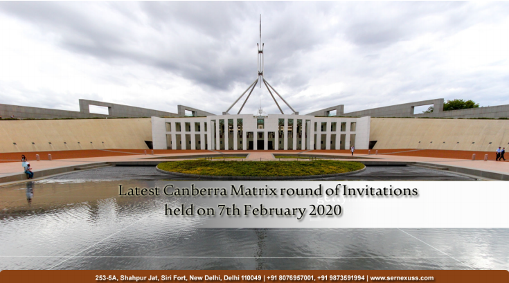 Australia Canberra Matrix Results for Visa 190 and Visa 491 Released on 7th February 2020